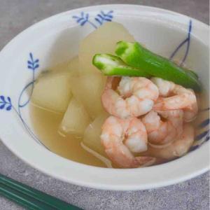 海老と冬瓜の冷たい煮物
