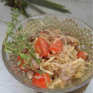 切り干し大根と鯖缶のサラダ