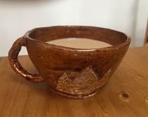 「岳」のナオタのコーヒーカップ、娘が作ってくれました!