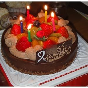 生チョコケーキで合格祝い♪
