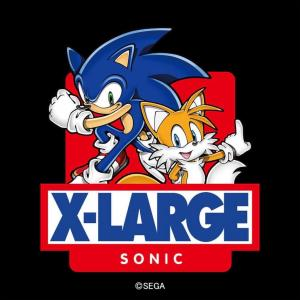 1月1日0時発売 XLARGE®×SONIC THE HEDGEHOG