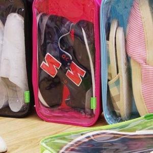 透明で中身の靴がわかりやすい!シューズバッグ