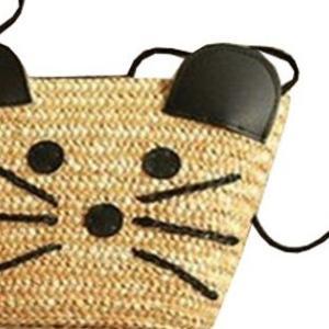 かわいいネズミの顔型カゴショルダーバッグ♪