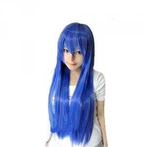 コスプレカラーウィッグ★綺麗な青色ロングブルー