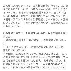 Amazonで不正利用されていた!!99円!!
