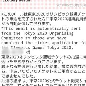 ★東京2020オリンピック チケット抽選結果
