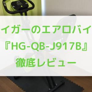 【使って分かった】ハイガーのエアロバイク『HG-QB-J917B』を徹底レビュー(評価、評判)