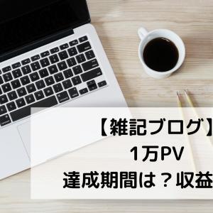 【雑記ブログ】月間1万PVでの収益はいくら?達成までの期間、記事数も公開