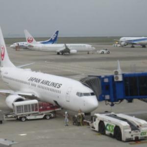 JAL 200便【中部国際空港(セントレア)⇒ 羽田空港】B737-800 久しぶりにJALに搭乗し、中部国際空港から羽田空港へ