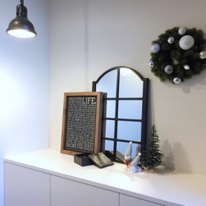 真っ白玄関で良かった事!&紙製モミの木、投入♪ 【2019Xmas】