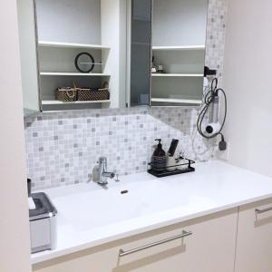 「鏡裏収納が無い」洗面所の使い心地。