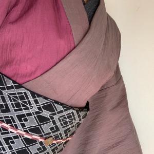 9月の和裁教室に行く着物