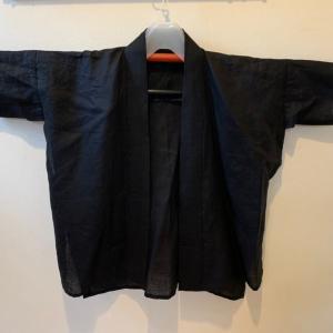 黒麻半襦袢の変え袖作り