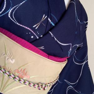 花菖蒲を見に行く着物