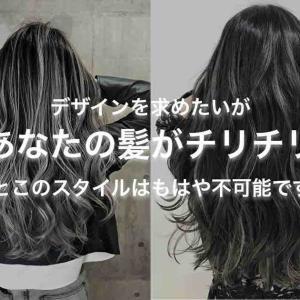 髪 が チリチリ ! 出来なくなる 3つの メニュー とその 改善 方法 とは?