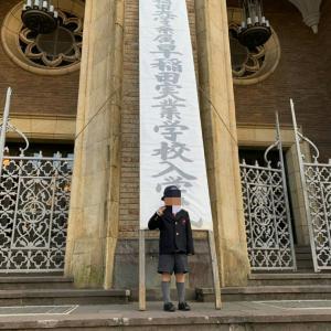 入学式の写真 早稲田 光塩 豊明幼稚園