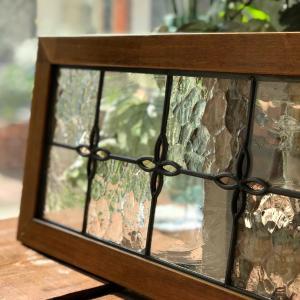 🍀キッチン、コンロ前の壁&ステンドグラス〜Dear Old〜