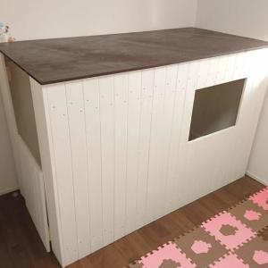1x4材で室内用子供の隠れ家(小屋)を製作