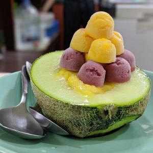 泰成水果店で映えするメロンオンザシャーベット! 2日目@台湾旅行7回目 2019.6 台南・台北