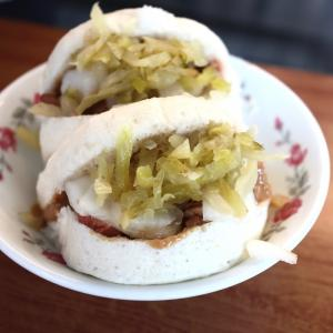 国華街  潘家牛肉湯、阿松割包で台湾式バーガーのはしご朝食。そして峰茂茶行で台湾茶購入 4日目@台湾旅行7回目 2019.6 台南・台北
