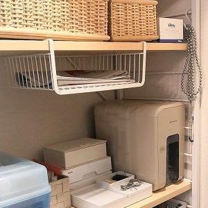 【ニトリ】吊戸棚バスケットでちょい置き場所の確保