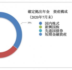 確定拠出年金 運用状況(2020年7月)
