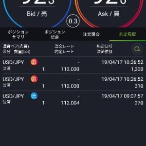 トレード報告【ドル円】4/17