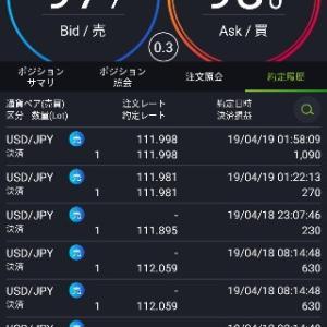 トレード報告【ドル円】4/18
