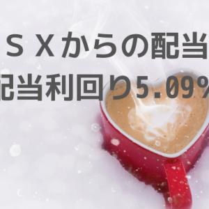 RSXからの配当金 配当利回り5.09%