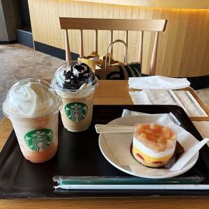 お茶タイムとおやつタイム ~ スターバックス・ピーチシリーズと茶の菓・・・