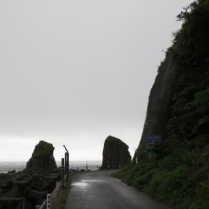 函館市 サンタロナカセ岬の奇岩たち
