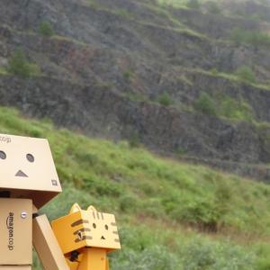 函館市 迫力ある道南金剛の採掘場跡