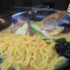 石狩市 番屋の湯の海鮮鍋風「番屋ちゃんぽん」