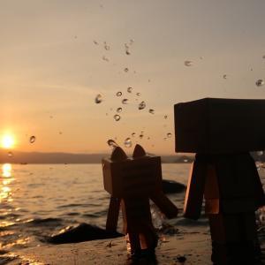 壮瞥町 名も無き洞爺湖畔からの夕日