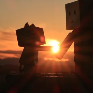 伊達市 伊達・有珠サービスエリア下り線から見た夕日