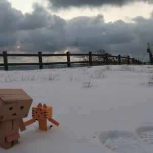 室蘭市 寒風ふきつけた大晦日のえとも岬