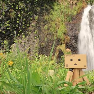 神恵内村 沿道に流れ落ちる、中の滝