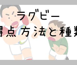 【W杯】ラグビーの得点計算と種類が分かればニワカになれる説!