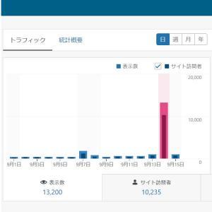 グーグル砲でPVが凄いことに!【なんと1日のPVが13,000超に!】