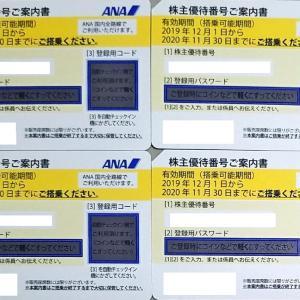 ANAホールディングスの株主優待到着!【お得なのは100株から400株です】