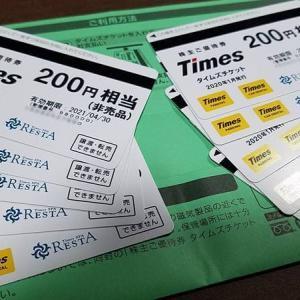 【2021年10月権利も株主優待中止!】パーク24(4666)の株主優待を紹介!到着したタイムズチケット2000円相当!