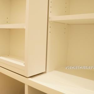 一条工務店 i-smart(アイスマート)スライド付きブックシェルフのサイズ。各棚の奥行きと幅と高さを測定しました。