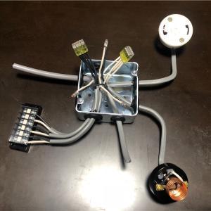 電気工事2種 実技課題No.8 3つの器具へのリモコン配線