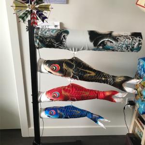 鯉のぼりの組み立て