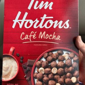 新発売のTim Hortons シリアル
