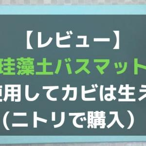 【レビュー】珪藻土バスマットを1年使用してカビは生えた?(ニトリで購入)