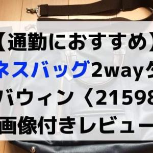 【ビジネスバッグのレビュー】エバウィン(21598)撥水加工(A4サイズ)