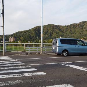 【宿泊旅行情報サイト】[Japan travel site]豊平川と藻岩山 at南22条大橋 元年10月14日(月)