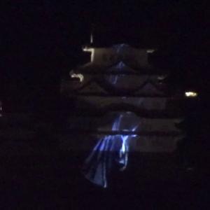 【宿泊旅行情報サイト】[Japan travel site]30秒の心象風景15191・ライトアップが変だ!~姫路城~