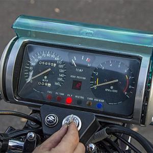 懐かしいバイク:スズキ ロータリーエンジン バイク RE-5 茶筒メーターが(笑)